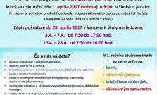 Zápis do prvého ročníka na ZŠ na Komenského ulici v Bardejove