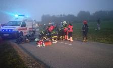 Mladý vodič motorky havaroval v smere od Kľušovskej Zábavy na obec Šiba
