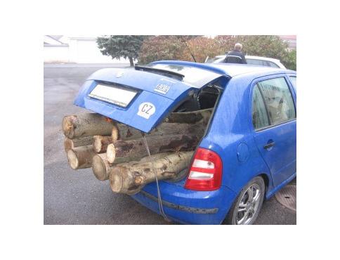 Do auta naložil drevo bez povolenia