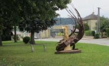 Súsošie sv. Margity Antiochijskej a draka našlo svoje miesto v centre obce Zborov