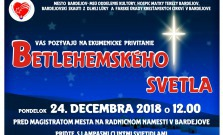 Betlehemské svetlo v Bardejove