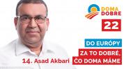 Asad Akbari: Do Európy za to dobré, čo doma máme