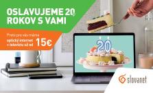 Extra akcie na internet s televíziou k 20. výročiu Slovanetu