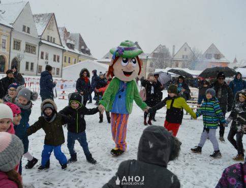 Kačur prišiel znova do Bardejova, sprevádzali ho snehové vločky