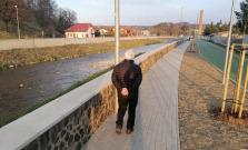 Primátor Bardejova Boris Hanuščak skontroloval úpravu nábrežia Tople