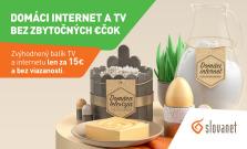 Zvýhodnený domáci internet a TV bez zbytočných €čok