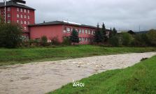 VIDEO   Nepriaznivé počasie a zvyšujúca sa hladina vodných tokov v okrese Bardejov