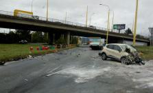 Škaredá dopravná nehoda, tri osoby zranené