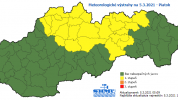Na Slovensko sa vráti sneženie, pre okres Bardejov platí výstraha prvého stupňa