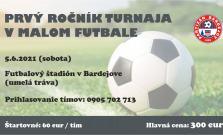 Uskutoční sa futbalový turnaj, prihláste sa a vyhrajte hlavnú cenu 300 eur
