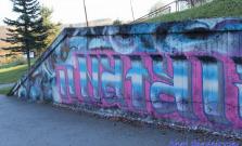 Vyzdobená stena pod Flamingom