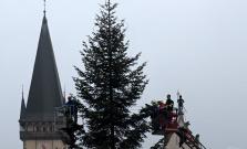 Stromček na Radničnom námestí už aj s výzdobami
